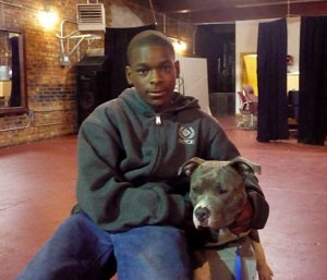 14 year old Terrence Murphy, a Chicago teen who fought dogs when he was younger